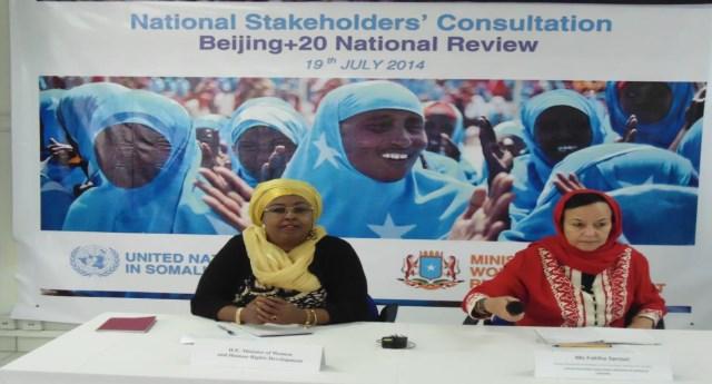 Report on Implementation of the Beijing Platform for Action, somalia 2014