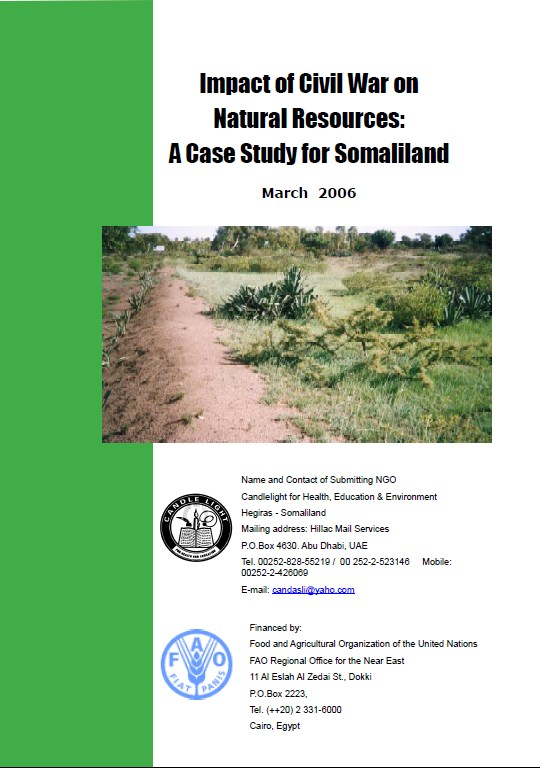 Impact of civil war on Natural Resources   A case study for Somaliland