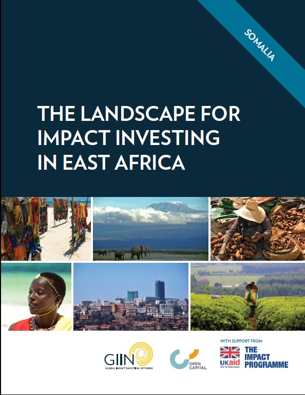 The Landscape for impact investing in East Africa   Somalia
