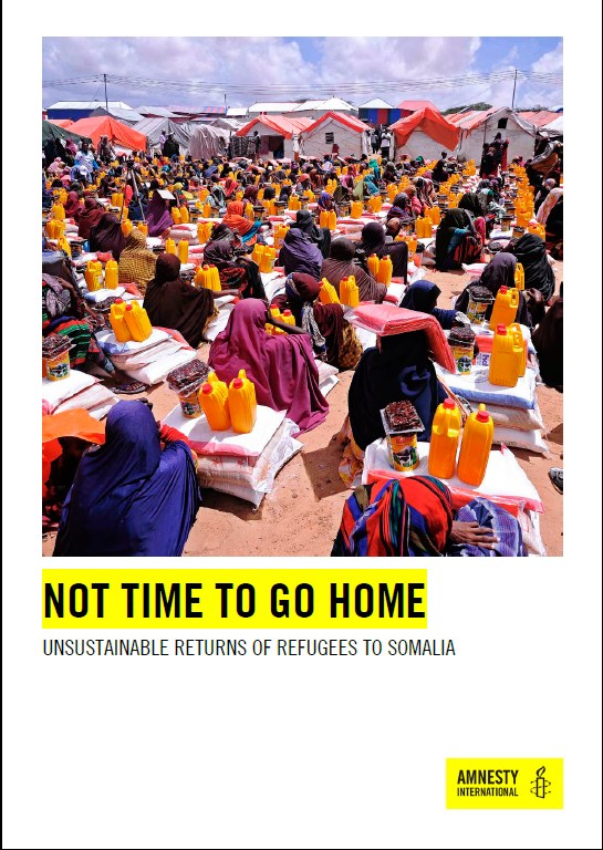 Not time to go home   unsustainable returns of refugees to Somalia