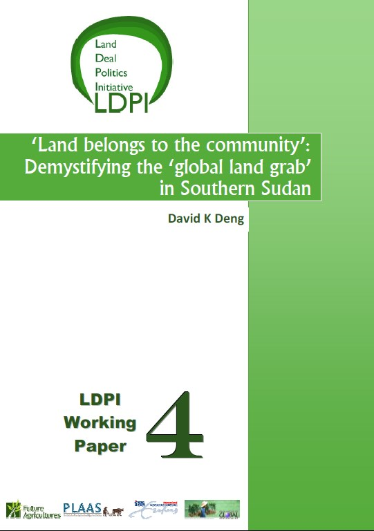 Land belongs to the community   Demystifying the global land grab in South Sudan