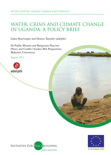 Water, Crisis and Climate Change in Uganda  A Policy Brief