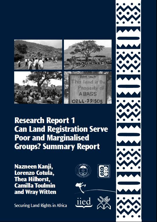 Can Land Registration Serve Poor and Marginalised Groups