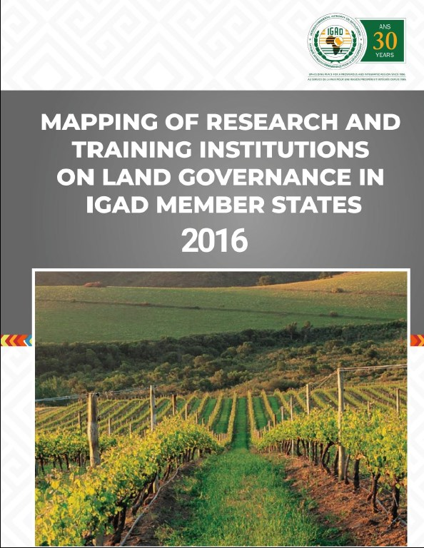 Mapping of Research and Training Institutions in the IGAD Region