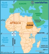 sudan location 160x175