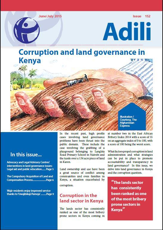 Corruption and land governance in Kenya