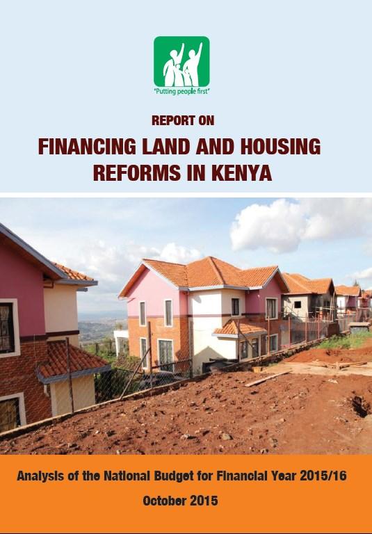 Financing land and housing reforms in Kenya