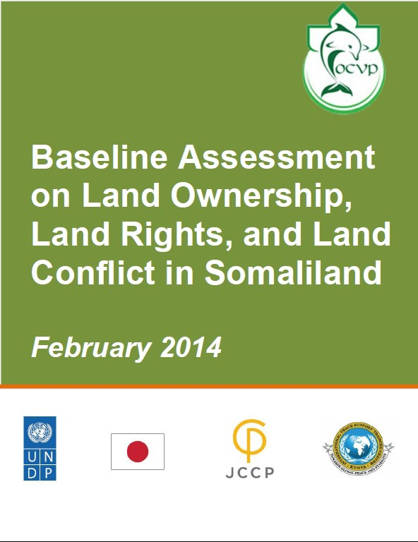 Baseline Assessment on Land Ownership, Land rights and Land conflicts in somalia  2014