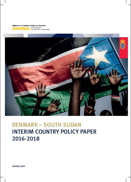 Denmark South Sudan interim country paper 2016 2018