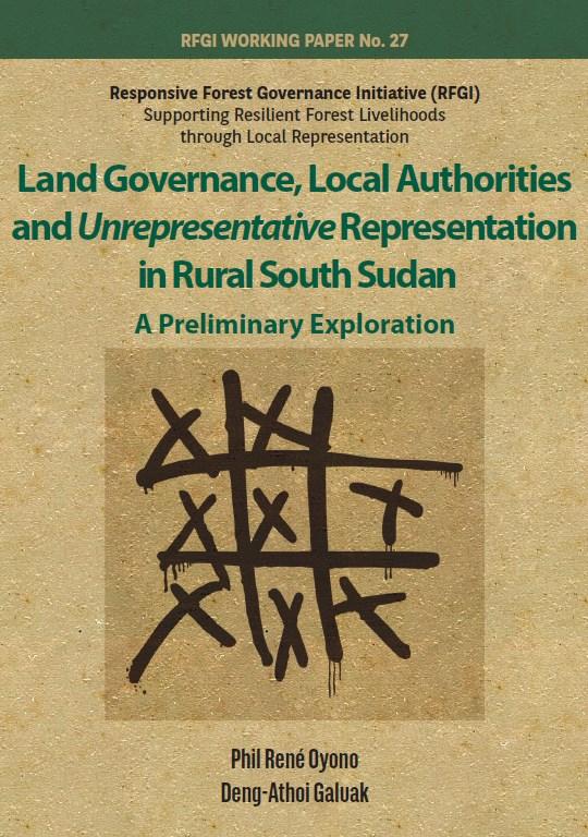 Land governance, local authorities and unrepresentative representation in rural South Sudan