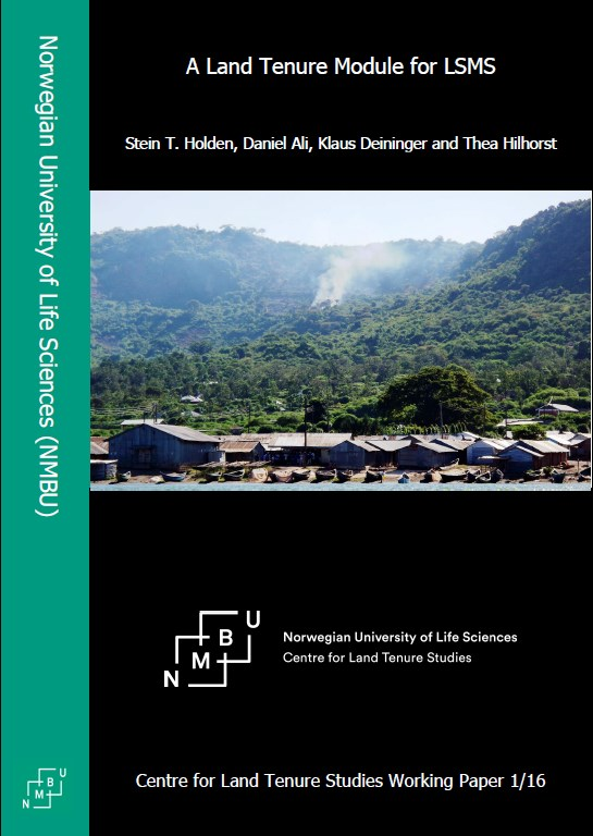 A Land Tenure Module for LSMS